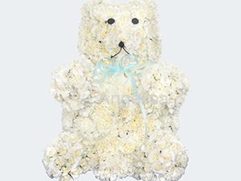 Oso Polar de Claveles u Hortencias