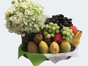 Arreglo Frutal con arreglo Floral