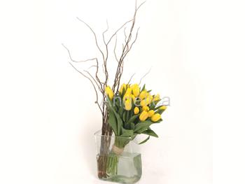 Bouquet de Tulipanes y Curly