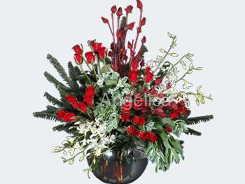 Arreglo de Rosas y Orquídeas