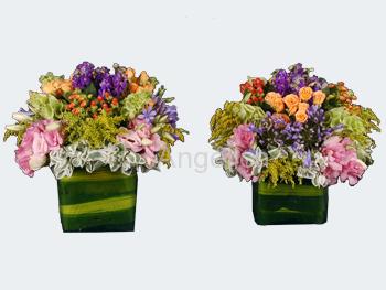 Bouquets Cubos de Vidrio Varios Colores